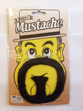 Halloween sell very well artificial fake mustache beard for sale MU12153