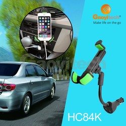 Dual USB 2 Ports wireless charging car mount with goosneck