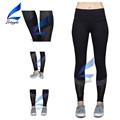 Splice Black Mesh Yoga Pants for Woman