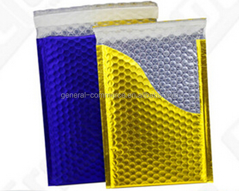 Decorative Metallic Foil Bubble Mailers
