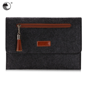 Wholesale felt+fiber fashion laptop tablet sleeve for 9.7 inch