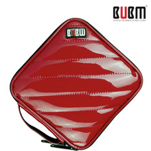 Hot Sale BUBM PU Leather Red zipper Hand Bag CD Box,CD DVD Case