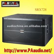 Double 18 inch Plywood Speaker Box SRX728S Subwoofer