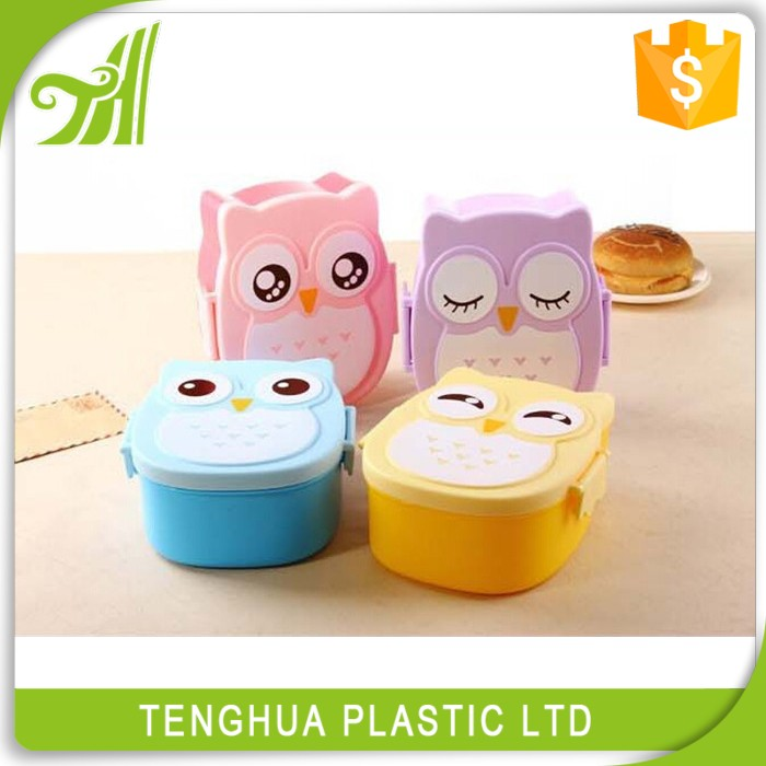 Kids Plastic Lid Bento Box Lunch Container Keep Warm