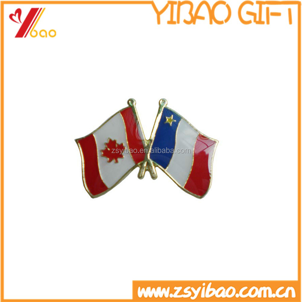 Wholesale Canda Flag Enamel Lapel Pin /flag pin metal badges lapel pin custom