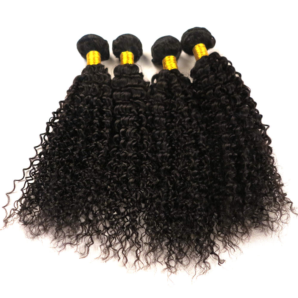 Factory price 7A Virgin Brazilian Hair Bundles Natural color african african kinky human hair for braiding