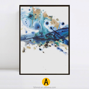 Home Decoration Modern Canvas Art Abstract Oil Painting with black Frame