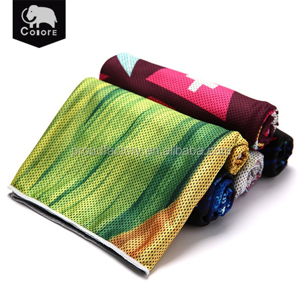 Hot sale multifunctional ultra soft custom printed cold chill its cooling towel