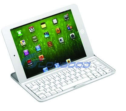 3 in 1 function Wireless Aluminum Bluetooth Keyboard Case for iPad Mini