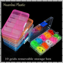 10 Grids Clear Plastic Adjustable Electronic Components Kit Parts Storage box