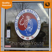 Christmas PVC electrostatic clear plastic window sticker for shop advertising