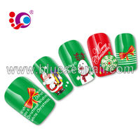 2014 new designs fashion nail ar sticker nail accessories christmas nail design
