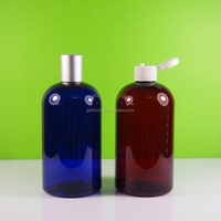16oz plastic bottle ,PET bottle 500ml, cobalt blue amber clear 500ml bottle