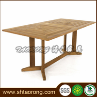 Latest dining table designs rectangle wood teak table