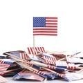Food cheese picks usa/italian/rusian country toothpick flags