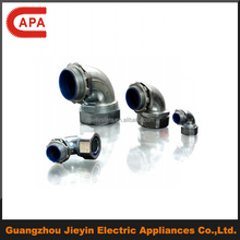 zinc electrical flexible tube connector 90 degree