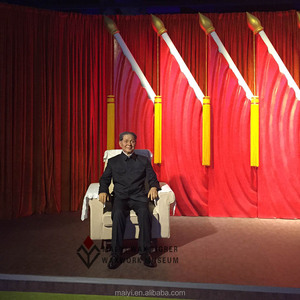 Celebrity Lifesize Wax Figure Deng Xiaoping Silicone Statue