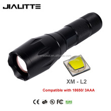 Jialitte 18650 High Power Led Torcia XML L2 LED Torcia Elettrica Ricaricabile F006