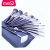 MSQ 15Pcs synthetic hair brush makeup set custom logo flat top contour makeup brush beautiful high quality makeup brushes