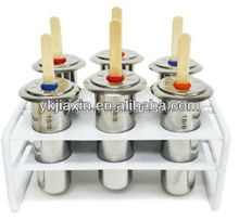 6pcs Stainless steel popsicle mould set with stand