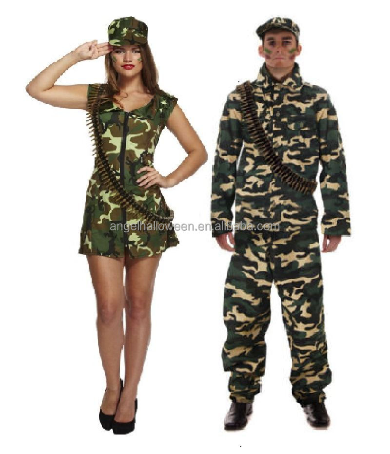 Adult Sexy Army Man Woman Camouflage Soldier Fancy Dress Up Costume AGC3527