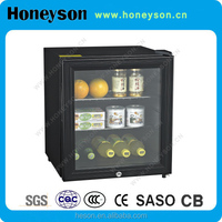 Hotel Absorption 40l mini bar fridge with glass door