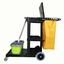 Universal Used 4 Wheel Hotel Plastic Cleaning Trolley Cart