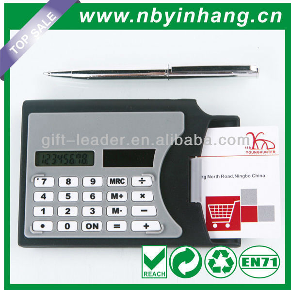 Name card with pen business card holder calculator XSDC0121
