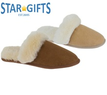Soft Suede Fleece Indoor House Home Shoe Warm Skid-proof Slippers With Fabric Sole