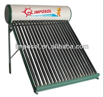 Integrated compact Low pressurized solar water heater 100L-300L(36tubes)