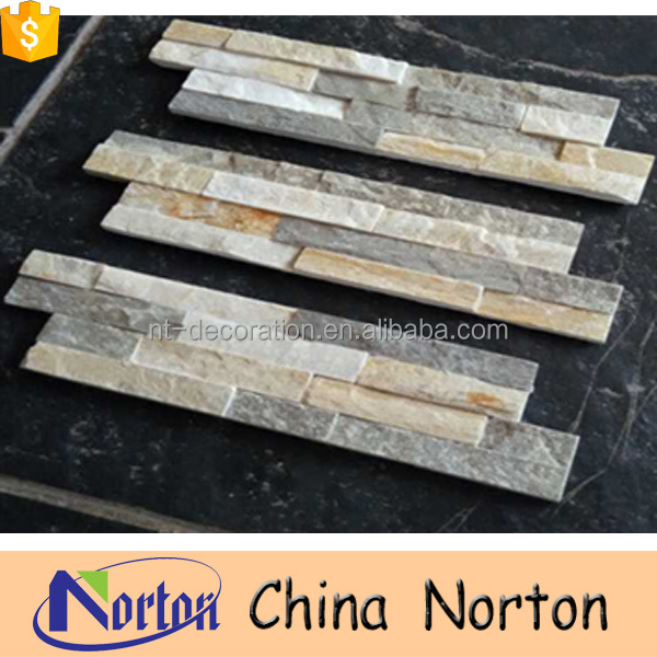 z shaped garden wall cladding stack slate for sale NTCS-C033Y