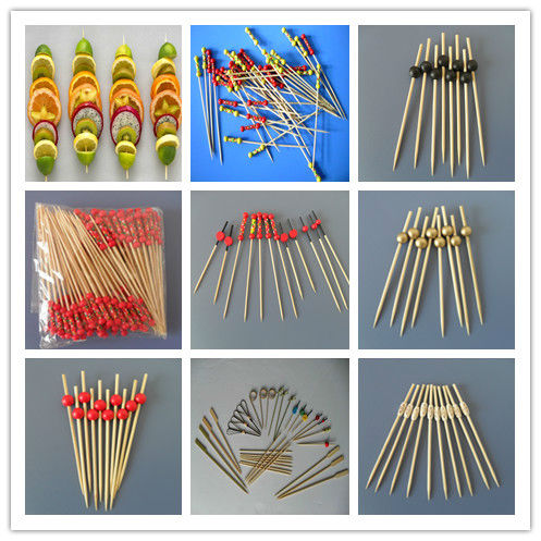 Bamboo Fruit Fork With Handle For Sale