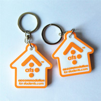 Double sided pvc keyring custom logo shape pvc keychain
