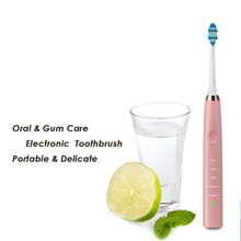 Sonic oral and gum care rechargeable electronic toothbrush with replaceable brush head