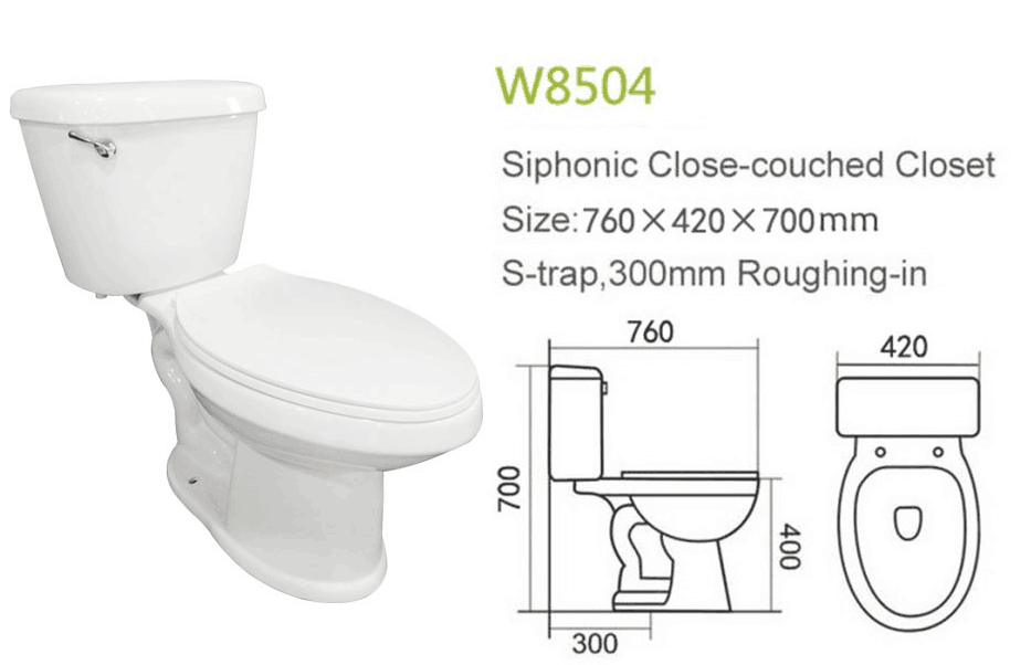 Chaozhou Sanitary Siphonic Ceramic Toilet Bowl