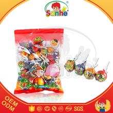 21g bag packing glant lollipop filled chewing gum inside