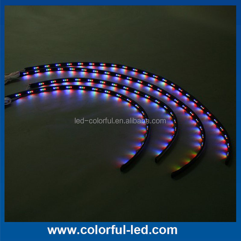 DC12V waterproof 7 color led under car underbody