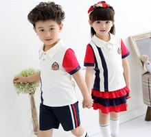 walson new design 2016 primary school uniform children's sports suits wholesale