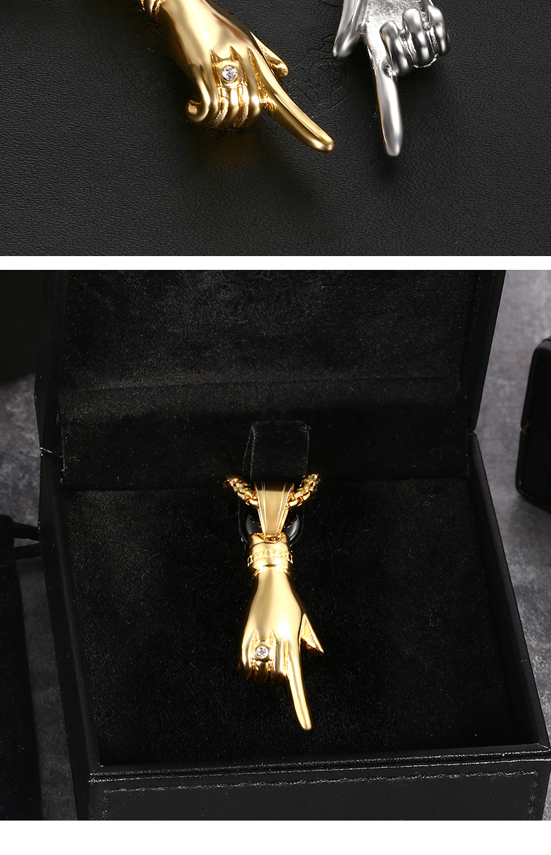 New Arrived Fashion Mens Finger Pendant,Women Pendant Necklace In Stainless Steel