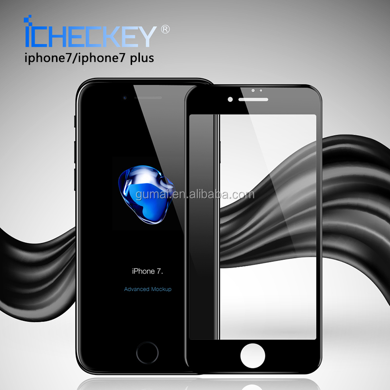 0.26mm 3D soft carbon fiber full cover tempered glass screen guard for iphone 7/7plus