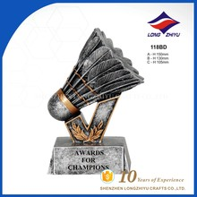 High quality 3D tennis badminton trophy and awards