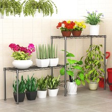 XM_236F Iron hanging pot garden flower shelf rack
