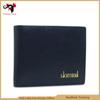 Male Rfid wallet design your own leather purse