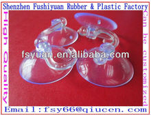 30mm pvc vacuum Non-toxicand environmental transparent suction cup with metal plastic hook suction cups with clip
