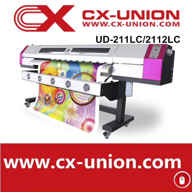 China Ink jet printer dx5 head C/M/Y/L 4 color galaxy UD-211LC digital banner printing machine