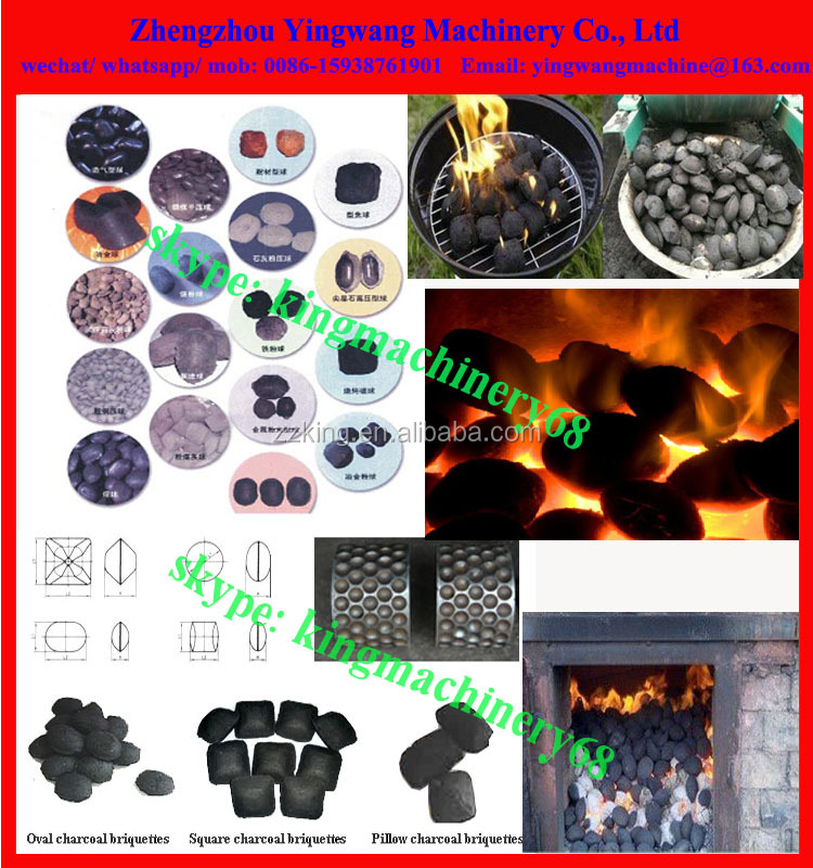 roller type pillow shape coal / charcoal briquette making machine
