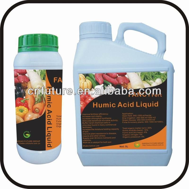 100% soluble liquid agriculture organic liquid humic acid fertilizer