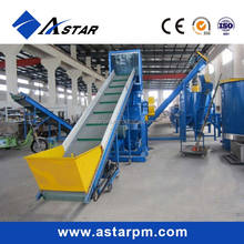 Waste Plastic Recycling PE/PP Films/Bags Crushing and Washing Line