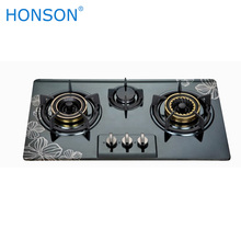 Stainless steel gas stove 3 burner gas cooker Automatic gas cooker