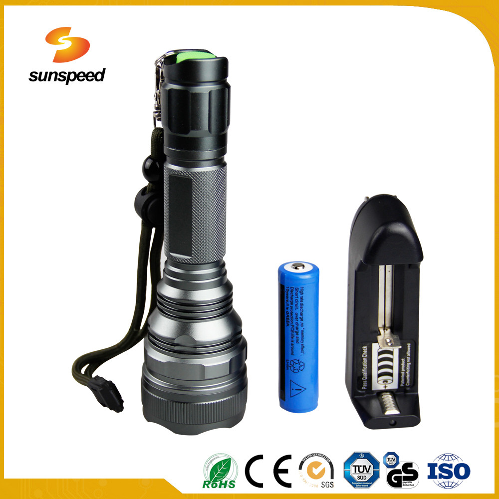 Sunspeed 26650 Li-ion Rechargeable Waterproof Torch